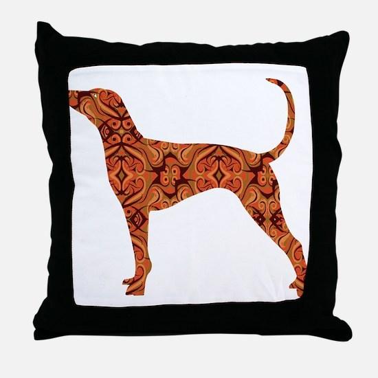 Bluetick Coonhound Throw Pillow