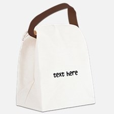 One Line Custom Message Canvas Lunch Bag