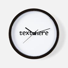 One Line Custom Message Wall Clock
