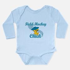 Field Hockey Chick #3 Long Sleeve Infant Bodysuit