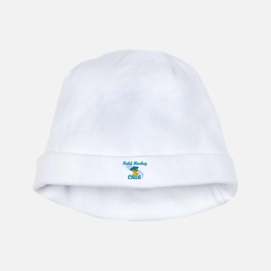 Field Hockey Chick #3 baby hat