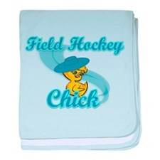 Field Hockey Chick #3 baby blanket