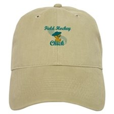 Field Hockey Chick #3 Baseball Cap