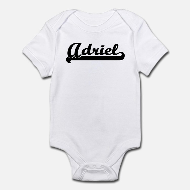 Black jersey: Adriel Infant Bodysuit