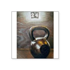 "Kettlebell and Box Square Sticker 3"" x 3"""