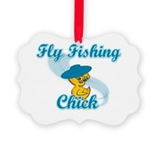 Fly Fishing Chick #3 Ornament