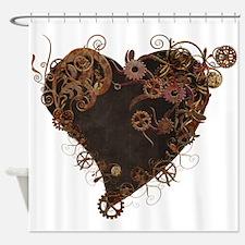 Steampunk Heart Shower Curtain