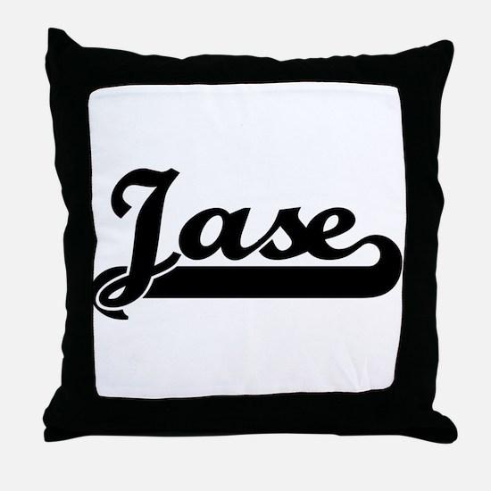 Black jersey: Jase Throw Pillow
