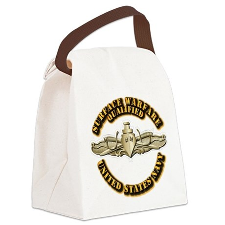 Navy - Surface Warfare - Gold Canvas Lunch Bag