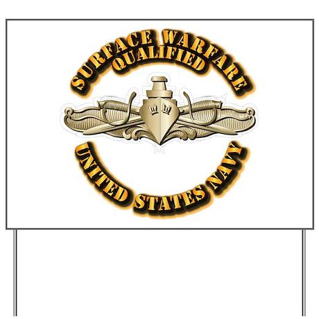 Navy - Surface Warfare - Gold Yard Sign