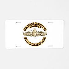 Navy - Surface Warfare - Gold Aluminum License Pla