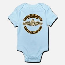 Navy - Surface Warfare - Gold Infant Bodysuit