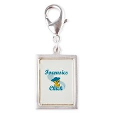 Forensics Chick #3 Silver Portrait Charm