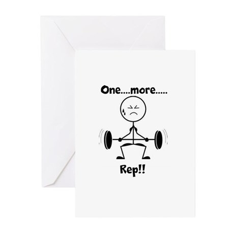 One More Rep Greeting Cards (Pk of 10)