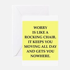 worry Greeting Card