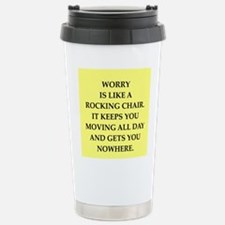 worry Stainless Steel Travel Mug