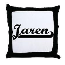 Black jersey: Jaren Throw Pillow