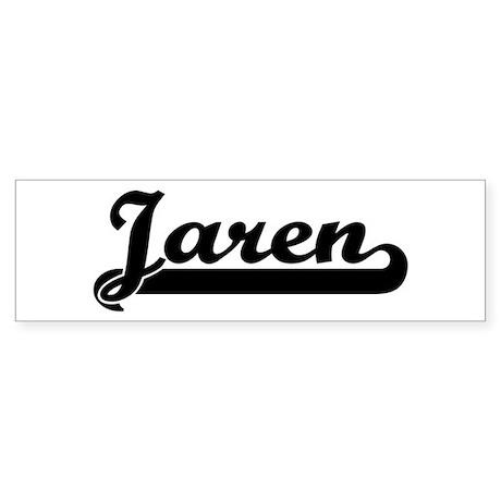 Black jersey: Jaren Bumper Sticker