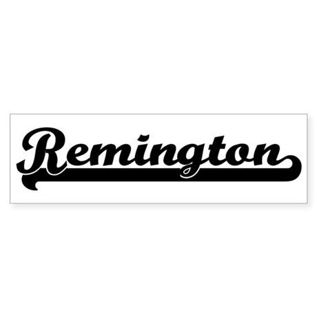 Black jersey: Remington Bumper Sticker