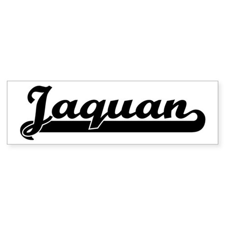 Black jersey: Jaquan Bumper Sticker