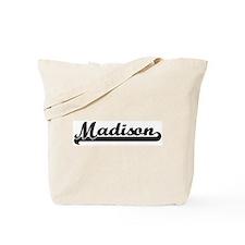 Black jersey: Madison Tote Bag
