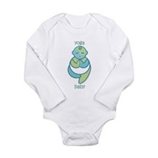 Yoga Baby : Blue & Green Body Suit