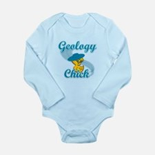 Geology Chick #3 Long Sleeve Infant Bodysuit