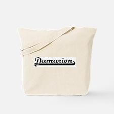 Black jersey: Damarion Tote Bag
