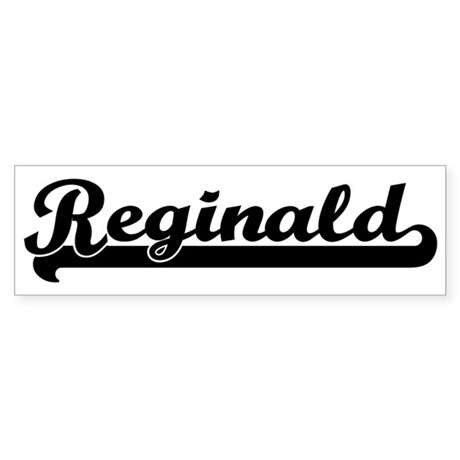 Black jersey: Reginald Bumper Sticker