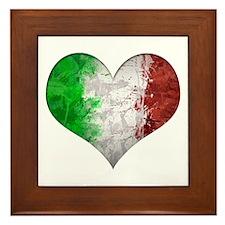Italian Heart Framed Tile