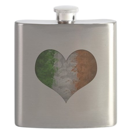 Irish flag heart Flask