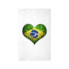 Brazilian Heart 3'x5' Area Rug
