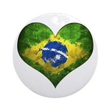 Brazilian Heart Ornament (Round)