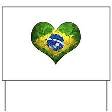 Brazilian Heart Yard Sign