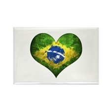 Brazilian Heart Rectangle Magnet (10 pack)