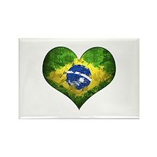 Brazilian Heart Rectangle Magnet