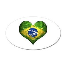 Brazilian Heart Wall Decal