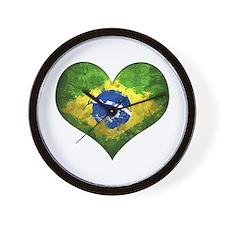 Brazilian Heart Wall Clock