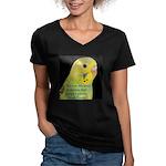 Parakeet 1 - Steve Duncan Women's V-Neck Dark T-Sh