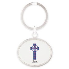 Cross - Laing of Archiestown Oval Keychain