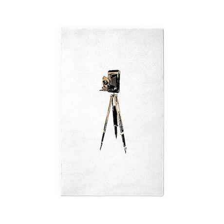 Box Accordion Camera with antique wooden tripod 3'