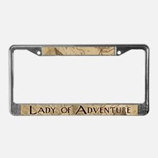 Lady Of Adventure License Plate Frame