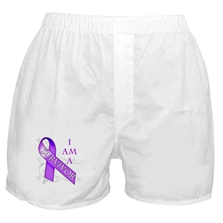 I Am a Survivor (purple).png Boxer Shorts