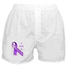 I Am a Survivor (purple).png Boxer Shorts
