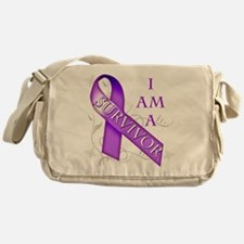 I Am a Survivor (purple).png Messenger Bag
