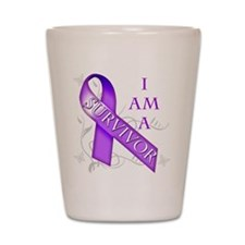 I Am a Survivor (purple).png Shot Glass
