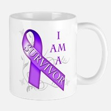 I Am a Survivor (purple).png Mug