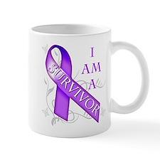 I Am a Survivor (purple).png Mug