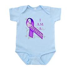 I Am a Survivor (purple).png Infant Bodysuit