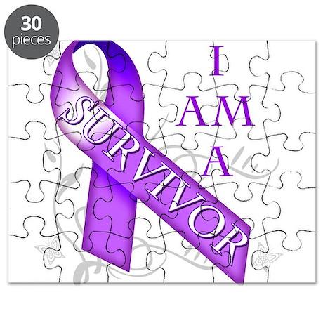 I Am a Survivor (purple).png Puzzle